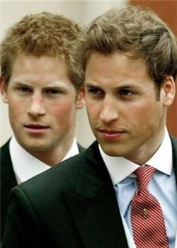 Guillermo y Harry de Inglaterra